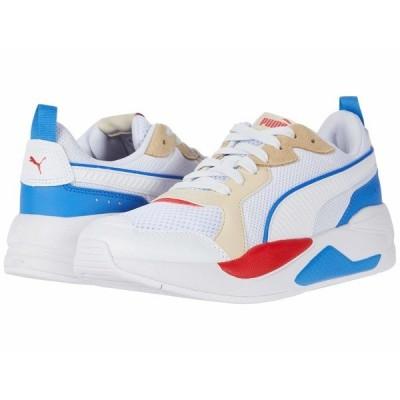 プーマ スニーカー シューズ メンズ X-Ray Puma White/Puma White/Tapioca/Palace Blue/High Risk Red