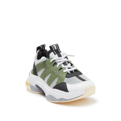 p448 レディース スニーカー シューズ Jedy Chunky Sole Sneaker WHI/GREENGL