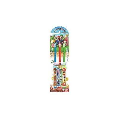 バンダイ こどもハブラシ スーパーマリオ 3才以上 (3本セット) 子ども用 歯ブラシ