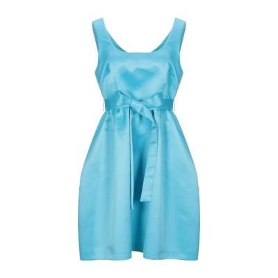 LANACAPRINA ミニワンピース&ドレス アジュールブルー 38 ポリエステル 80% / コットン 20% ミニワンピース&ドレス