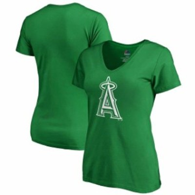 Majestic マジェスティック スポーツ用品  Majestic Los Angeles Angels Womens Kelly Green St. Patricks Day White Logo