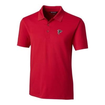 ユニセックス スポーツリーグ フットボール Atlanta Falcons Cutter & Buck Forge Tailored Fit Polo - Red Tシャツ