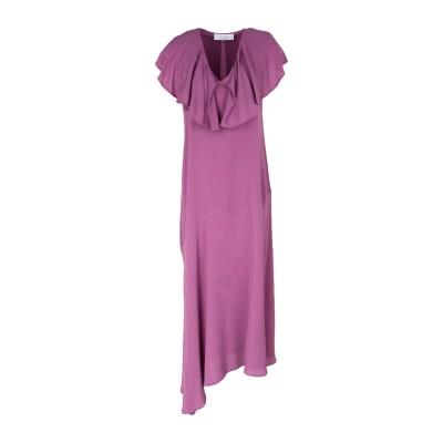 カオス KAOS 7分丈ワンピース・ドレス パープル 40 アセテート 65% / シルク 35% 7分丈ワンピース・ドレス