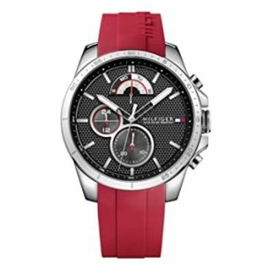 腕時計  トミー ヒルフィガー メンズ「COOL SPORT」 クオーツ ステンレススチール カジュアルウォッチ カラー:レッド (モデル: 1791351)