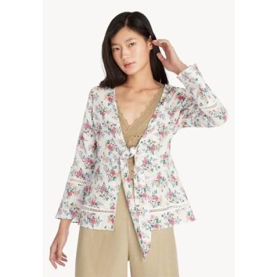 ポメロ Pomelo レディース アウター Purpose Floral Front Tie Outerwear - White White