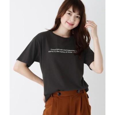 tシャツ Tシャツ 【M-L】プリントクルーネックゆるTシャツ