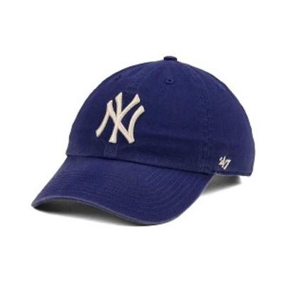 47ブランド メンズ 帽子 アクセサリー New York Yankees Timber Blue CLEAN UP Cap Blue