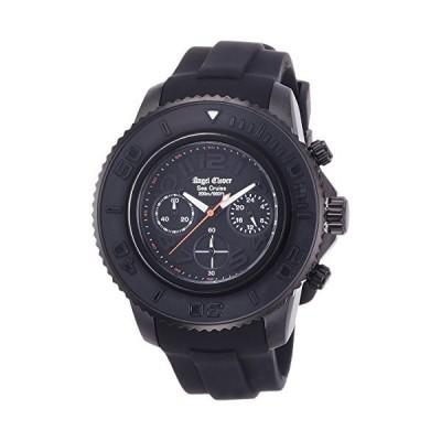 [エンジェルクローバー] 腕時計 シークルーズ ブラック文字盤 クロノグラフ 200m防水 SC47BBK-BK ブラック