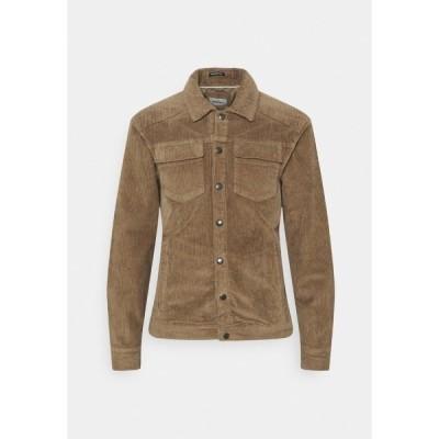 ブレンド シャツ メンズ トップス Shirt - brown