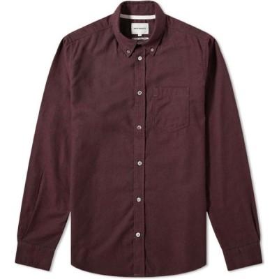 ノースプロジェクト Norse Projects メンズ シャツ フランネルシャツ トップス anton brushed flannel shirt Eggplant