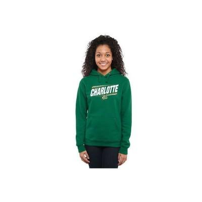 ファナティックス ブランディッド カレッジ 大学 スポーツ NCAA アメリカ USA 全米 Charlotte 49ers レディース グリーン ダブル Bar プルオーバーパーカー