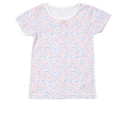 [ベビー]半袖 速く乾くシャツ フラワー ピンク