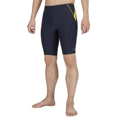 MIZUNOスイム・競泳水着 アクアフィットネス用ハーフスパッツL N2JB910284ネイビー×イエロー