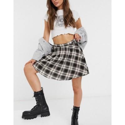 デイジーストリート Daisy Street レディース ミニスカート スカート mini pleated skirt in vintage check co-ord チェック