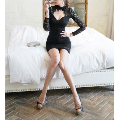 [55555SHOP]   大人気!2019年新品 流行のダークスタイル お洒落なオフィススタイル提案 レース 刺繍 気高い 優雅 ワンビース タイトススカート