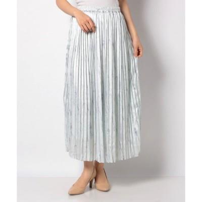 【テチチ】【Techichi】マーブル柄サテンプリーツスカート
