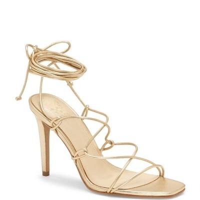 ヴィンスカムート レディース サンダル シューズ Natola Leather Ankle Tie Lace-up Dress Sandals Gold