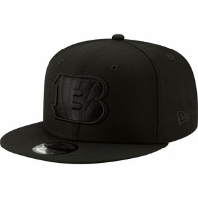 ニューエラ New Era メンズ キャップ 帽子 Cincinnati Bengals Black on Black Basic 59Fifty Fitted Hat
