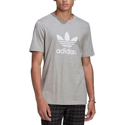 アディダス adidas メンズ Tシャツ トップス Trefoil T-Shirt Medium Grey Heather