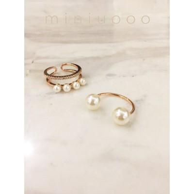 リング 指輪 パール アクセサリー 開口 女性 レディース ギフト プレゼント 結婚式 パーティー