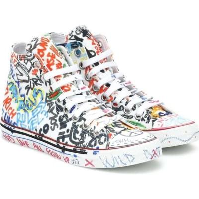 ヴェトモン Vetements レディース スニーカー シューズ・靴 Graffiti High-Top Canvas Sneakers White/Graffiti
