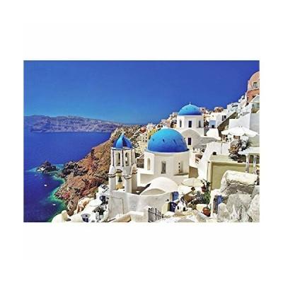 Minisan パズル 1000ピース ジグソーパズル エーゲ海 サントリーニ島 ギリシャ マイクロピース mini puzzle (420 x 297