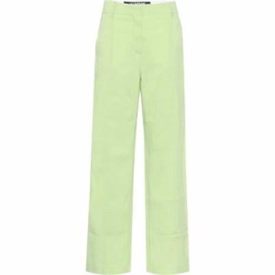 ジャックムス Jacquemus レディース ボトムス・パンツ Le Pantalon Estero wide-leg pants Green