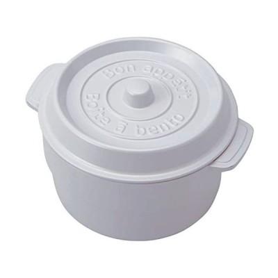 竹中 日本製 お弁当箱 ココポット ラウンド ホワイト (上段)230ml、(下段)300ml T-56445 (ホワイト)
