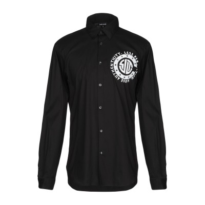 ジャストカヴァリ JUST CAVALLI シャツ ブラック 46 コットン 76% / ナイロン 21% / ポリウレタン 3% シャツ