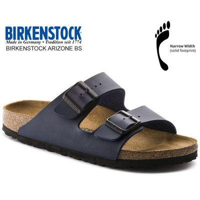 BIRKENSTOCK ARIZONA BS(NARROW FIT) BLUE 0051753 ビルケンシュトック アリゾナ ブルー ネイビー レザーサンダル ダブルストラップ サンダル