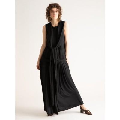【スタイリング】 ギャザードッキングドレス レディース ブラック 0 styling/