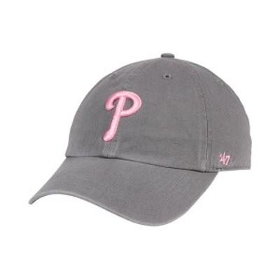 47ブランド レディース 帽子 アクセサリー Philadelphia Phillies Dark Gray Pink CLEAN UP Cap DarkGray/Pink