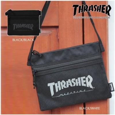 スラッシャー サコッシュ THRASHER THRSG-114 ショルダーバッグ メンズ レディース フェス 旅行 ※代引き送料別