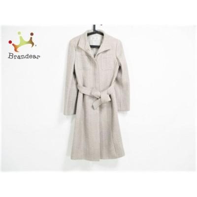 ボールジー BALLSEY コート サイズ38 M レディース 美品 - ベージュ×グレー 長袖/ツイード/冬 新着 20201209