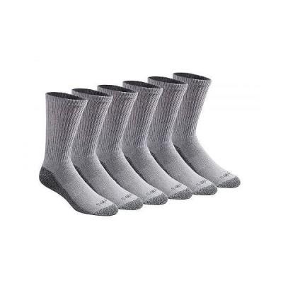 Dickies ディッキー メンズ 男性用 ファッション ソックス 靴下 スリッパ Dickies Men's Multi-pack Dri-tech Moisture Control Crew Socks - Grey (6 Pairs)