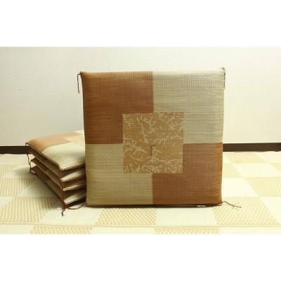 【5枚セット】 い草 座布団 国産 おしゃれ 上品 ブラウン 国産 約55×55cm 日本製 送料無料