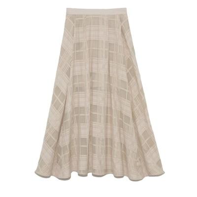 【リリーブラウン/Lily Brown】 チェックレーススカート