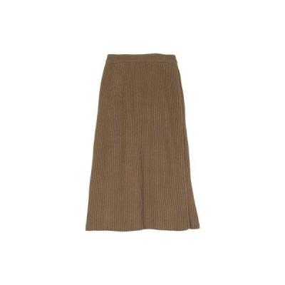 ユアーズ ur's ラップロングニットスカート (モカ)