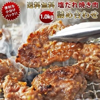 【 送料無料 】【 お中元 】 焼き肉 5種類 詰め合わせ 1.0kg 塩だれ 竹セット やわらか ジューシー BBQ バーベキュー 牛 惣菜 家飲み ギフト 肉 生 チルド