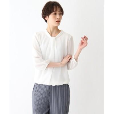 SOUP / 【大きいサイズあり・13号】ボウタイ風タックプルオーバー WOMEN トップス > Tシャツ/カットソー