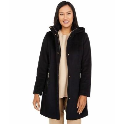 ヴィンスカムート コート アウター レディース Hooded Wool Coat V20770-ZA Black