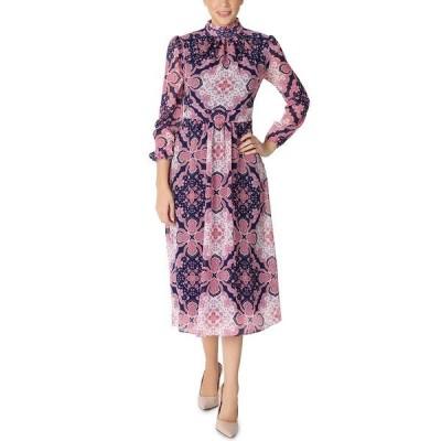 ジュリア ジョーダン ワンピース トップス レディース Printed Chiffon Midi Dress Coral Multi