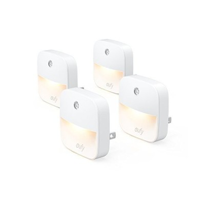 eufy Lumi Plug-In Night Light Warm White LED Nightlight Dusk-To-Dawn Sensor