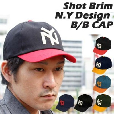 キャップ ベースボールキャップ ニューヨーク ショートブリム ツバ短め アメカジ 男女兼用 帽子 メンズ レディース