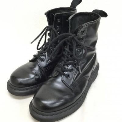 Dr.Martens ドクターマーチン ショートブーツ ブーツ Boots Short Boots 1460 MONO 8 EYE BOOTS モノ エイト ホール オール ブラック 10022620