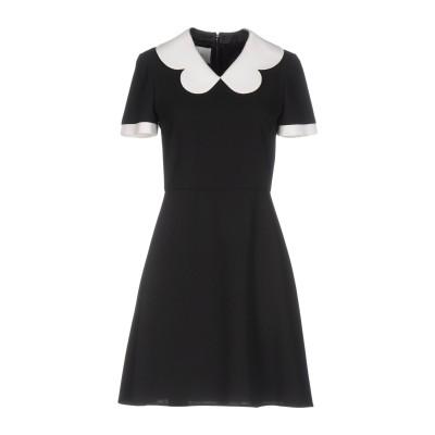ヴァレンティノ VALENTINO ミニワンピース&ドレス ブラック 44 バージンウール 100% ミニワンピース&ドレス