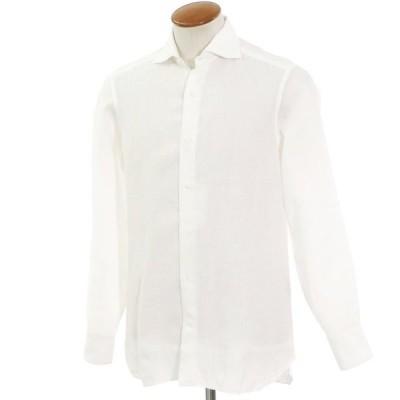 ビームスエフ BEAMS F リネン ワイドカラーシャツ ホワイト M