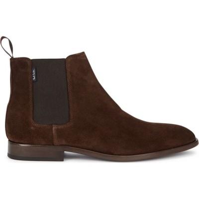 ポールスミス Paul Smith メンズ ブーツ チェルシーブーツ シューズ・靴 Gerald Brown Suede Chelsea Boots Brown