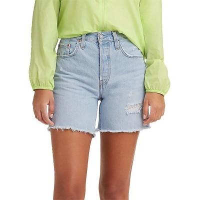 リーバイス カジュアルパンツ ボトムス レディース Levi's Women's 501 Original High-Rise Mid-Thigh Jeans Shorts LuxorFocus