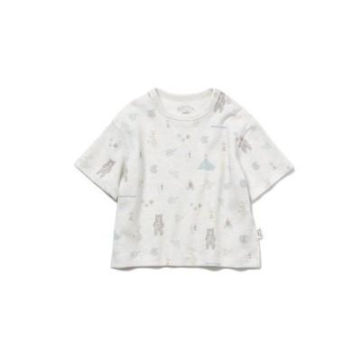 【BABY】 アニマルキャンプモチーフ baby Tシャツ